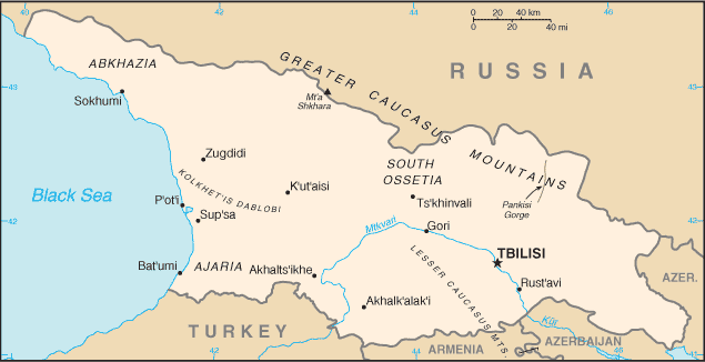 Georgia-CIA WFB Map